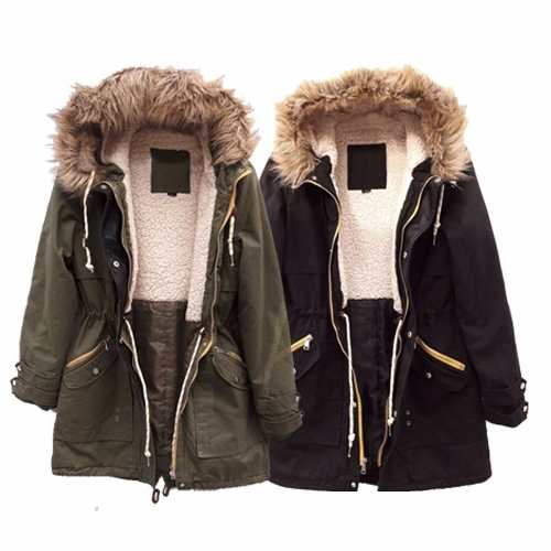 58f937eaea5d5 Campera Parka Militar Corderito Piel Deluxe The Big Shop