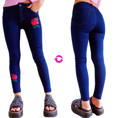 c34a0138e9 Jeans Mujer Tiro Alto Elastizado Chupin Roto Roturas Negro