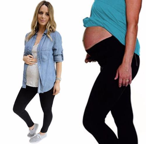 36c846479 Calzas Para Embarazadas De Supplex Con Lycra Cintura Alta